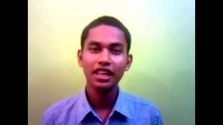 Jagiroad College Students Hillol Bezbaruah sing a song