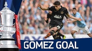 JORDI GOMEZ PENALTY: Manchester City vs Wigan Athletic FA Cup Sixth Round