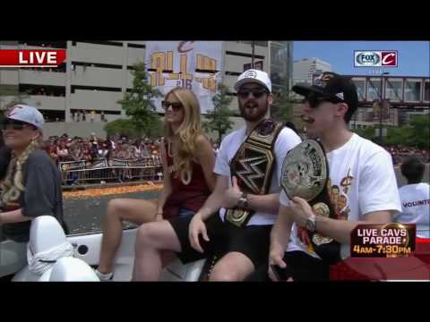 Kevin Love Greets the Crowd   Cavaliers Championship Parade   June 22, 2016   NBA Finals