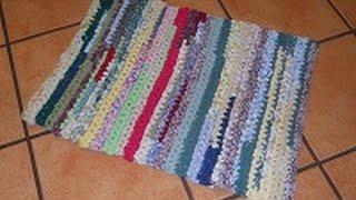 Runner Rag Rug of Many Colors (Super Easy Crochet) Part 1