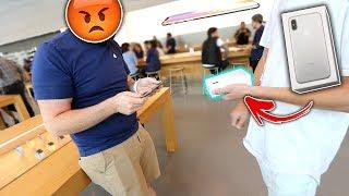 SELLING A FAKE iPhone X At Apple Store! | David Vlas