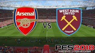 Arsenal vs West Ham - Premier League 2018/19 Season - PES 2018