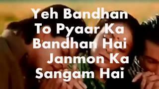 Yeh Bandhan Tomodified With Sad Versionkaraoke  Lyricskaran Arjun