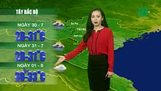 Thời tiết 12h 29/07/2018: Mưa dông vẫn hiện diện các tỉnh thành miền Bắc trong hai ngày tới  | VTC14