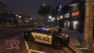 Driving With Franklin: Driving a Police Car (GTA 5)