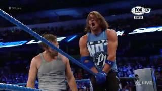 Dean Ambrose Castiga a AJ Styles Con Las Cuerdas WWE Smackdown 30 De Agosto 2016 En Español