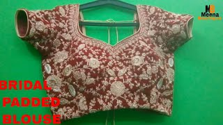 Bridal padded blouse cutting and stitching in hindi