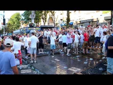"""English fans are singing """"Vindaloo"""". Euro 2012"""