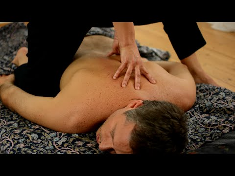 Ayurvedic Yoga Massage ASMR Full Body Part 1 Back Neck Arms