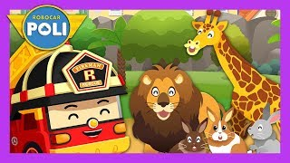 The zoo is on fire! Rescue our animal friends!! | English play for Kids | Robocar Poli Game