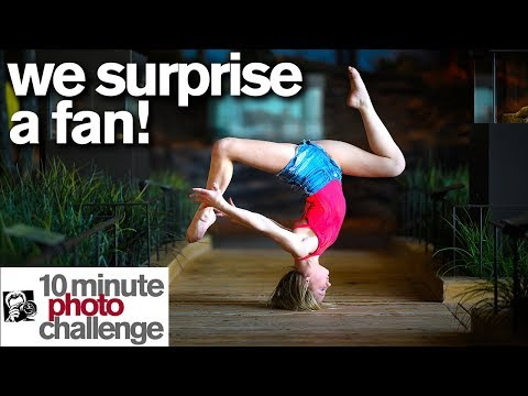 I SURPRISE A FAN with a Contortion and Ballet 10 Minute Photo Challenge World of Dance