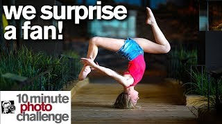 I SURPRISE A FAN with a Contortion and Ballet 10 Minute Photo Challenge *World of Dance*