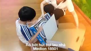 Đập hộp Rô bốt hút bụi lau nhà Medion 18501