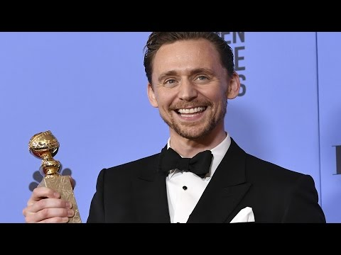 Tom Hiddleston Golden Globes 2017 Full Backstage Interview