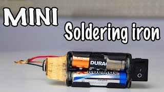 How to Make a mini soldering iron of 12V ot home easy