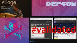 DEF CON 25 SE Village - Tyler Rosonke - Social Engineering With Web Analytics