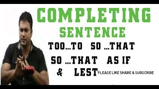 Completing Sentence For SSC and HSC - Learn English Speaking With Important English Sentences