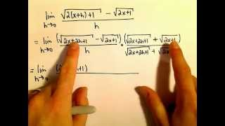 Derivative of Root Function Using Definition of a Derivative