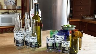 Cut Bottles into Glasses - Cutting Wine and Beer Bottles