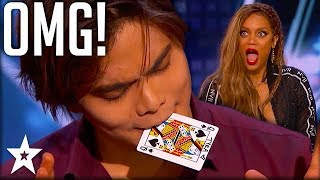 Card Magician Wows Tyra Banks on Stage! | America