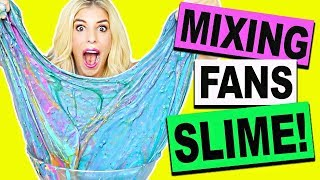MIXING AND UNBOXING FAN'S SLIME! (DIY Slime, Fluffy Slime, Crunchy Slime, NO BORAX)