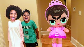 GIANT LOL DOLL vs Shiloh and Shasha! - Onyx Kids