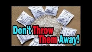 13 surprising uses of SILICA GEL packets you should know