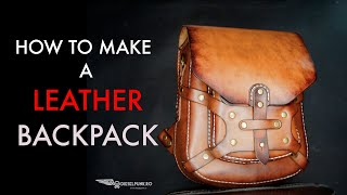 Leather Backpack Tutorial