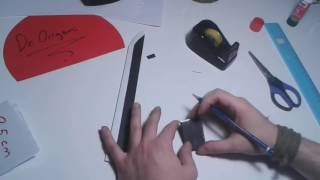 DIY   How to make a paper Dragon Knife   EASY TUTORİAL  Toy Weapons  By Dr  Origami