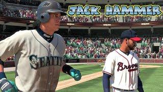 MLB The Show 18 Jack Hammer Road to The Show Shortstop Mariners vs Atlanta Braves MLB 18 RTTS
