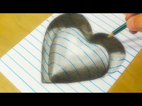 Xxx Mp4 Drawing Heart Trick Art On Line Paper VamosART 3gp Sex