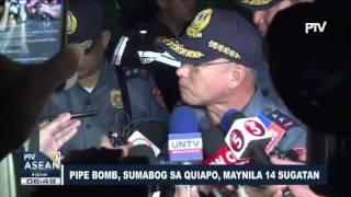 Pipe bomb, sumabog sa Quiapo, Maynila, 14 sugatan