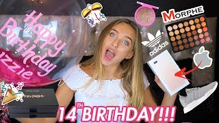 WHAT I GOT FOR MY 14TH BIRTHDAY!! IPHONE, MORPHE PALETTE + MORE  | Lizzie Mason