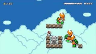 I cleared a 1/93848 level in Super Mario Maker, and it makes no sense...