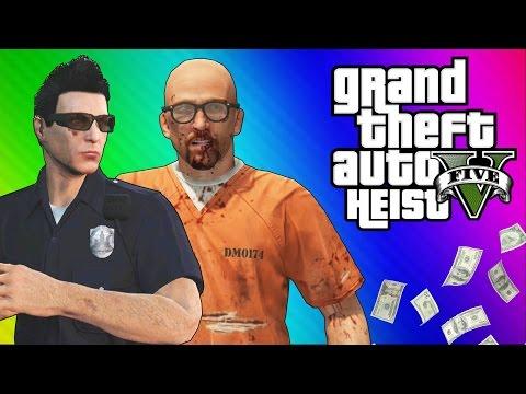 GTA 5 Heists 1 Undercover Cops & Prison Break GTA 5 Online Funny Moments Part 2