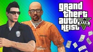 GTA 5 Heists #1: Undercover Cops & Prison Break! (GTA 5 Online Funny Moments) [Part 2]