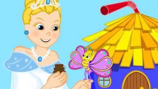 Borboletinha com A Cinderela  - Musica infantil com Os Amiguinhos