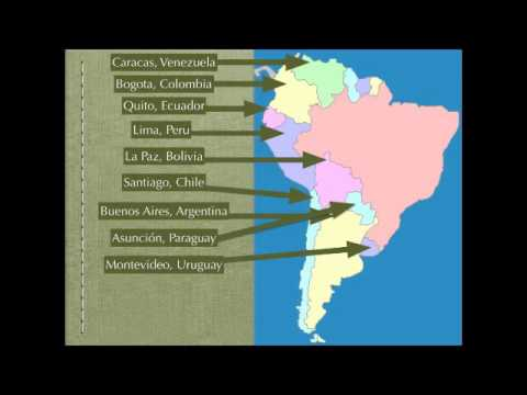 watch South America Map Rap (Spanish Speaking Countries and Capitals)