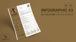 How to Customize CV Resume Template in Indesign  @ Infographic#3 Resume Template