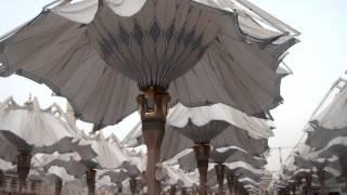 Masjid Nabawi, Madina Al-Munawwarah - Umbrellas Opening