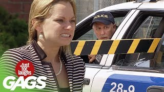 Breaking Cop Car Window Prank - Just For Laughs Gags