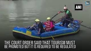 White water rafting is temporarily banned in Rishikesh