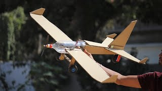 How to make a airplane - cardboard airplane - flying bottle aeroplane