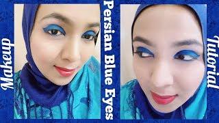 Persian Blue Eyes I Makeup Tutorial I just4fun jannathff I jff