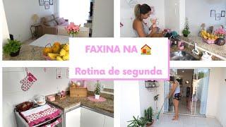 Organização e limpeza da casa toda | Rotina de segunda | Faxina
