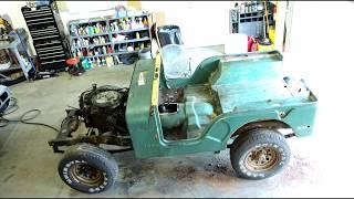 10 minute Time lapse 1976 Jeep CJ5 Resortaion