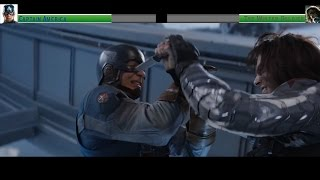 Captain America vs The Winter Soldier 2nd Fight...with healthbars