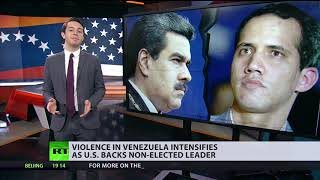 Violence in Venezuela intensifies as US backs non-elected leader