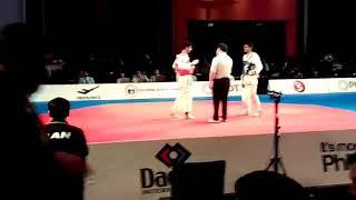 22nd Asian taekwondo championship 2016 semifinals Iran vs (NAVEEN SANDHU)India round 1