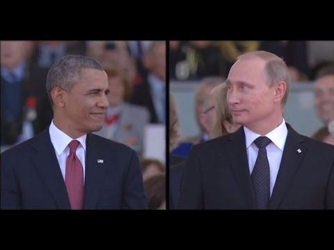 Putin ve Obama'nın göz göze geldiği ilginç an
